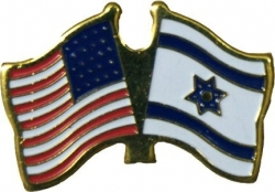 USA & Israel Flag Pin