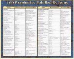 100 Prophecies Fulfilled By Wall Chart